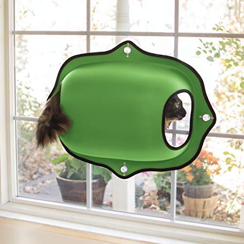 KH 779182 EZ Easy Window Mount Pod, Fensterschalen-Katzenbett, grün
