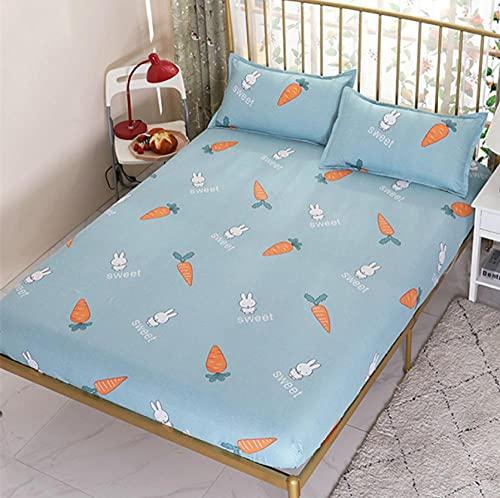 XLMHZP Funda de colchón transpirable y agradable al tacto con estampado protector de cama transpirable suave para colchón individual cama doble, niños niños 21_135x200cm+25cm (1pcs)