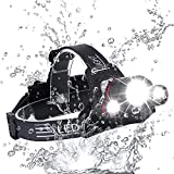 Brightest and Best LED Headlamp Design 18000 Lumen flashlight-IMPROVED CREE LED Usb Rechargeable 18650 headlight flashlights Waterproof Hard Hat Light Bright Head Lights Camping Running headl