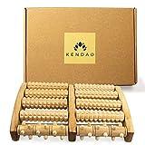KENDAO Rouleau Massage Pieds Bois • Masseur de Pieds Naturel et Écologique •...