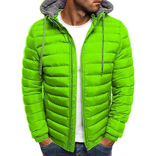 YJNH Herren Hoodie Daunenjacke Neuer Winter Warm Full Zip Jacke Übergangsjacke Outdoor Casual Daily Wear Elastic Cuffs Sweatshirt with Pockets XL