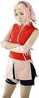 Women's Haruno Sakura Cosplay Costume Skirt with Headband
