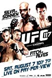 Pyramid America Official UFC 117 Anderson Silva vs Chael Sonnen Sports Laminated Dry Erase Sign Poster 12x18