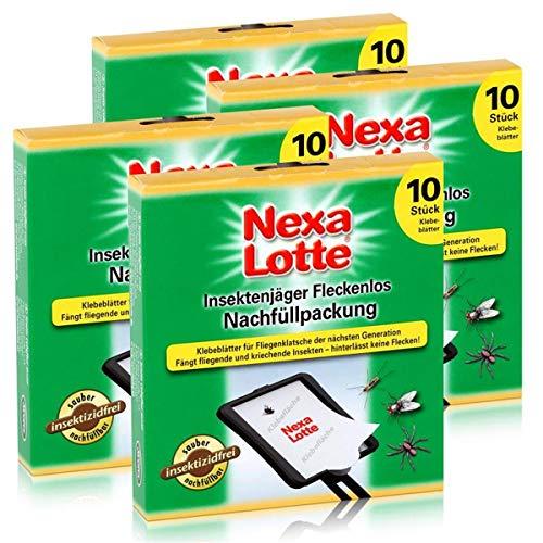 Nexa Lotte Insektenjäger Fleckenlos Nachfüllpackung - 10 Klebeblätter (4er Pack)