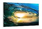 Impression sur Verre - Image sur Verre - Un élément - 70x50cm - 2779 - Tableaux pour la Mur - prete a Suspendre - Tableau en Verre - Motif Moderne - Décoration - Pret a accrocher - GAA70x50-2779