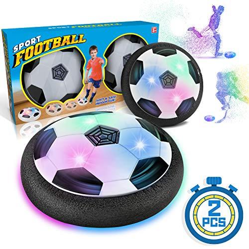 WEARXI Fussball Geschenke Jungen 5 6 10 Jahre - Hover Ball Spielzeug Ab 5-10 Jahre Junge, Air Hockey Kinderspielzeug, Indoor & Outdoor Kinder Spiele, Ostergeschenke (2 Pack)