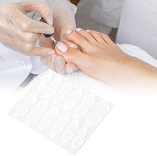 10 hojas Etiqueta del Uñas postizas del dedo del pie, uñas