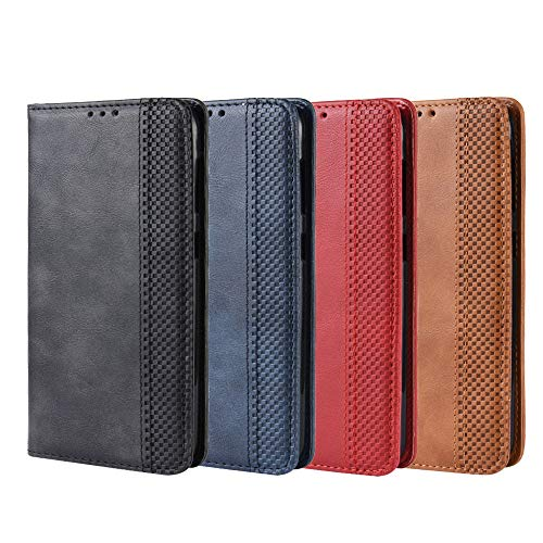 Oppo A92S/Reno4 Z 5G Wallet Funda, Leather Wallet Flip Cover Oppo A92S Case with Card Holder Case, Oppo A92S/Reno4 Z 5G Rojo