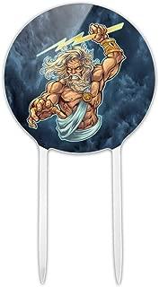 GRAPHICS & MORE Acrylic Zeus Greek God Mythology Lightning Cake Topper Party Decoration for Wedding Anniversary Birthday Graduation