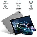 Blackview Tab 8 Tablet 10.1 Inch, 4GB RAM, 64GB ROM, Android 10 Tablets, Octa-Core Processor, 1920x1200 FHD, 6580mAh Battery, 13MP Rear Camera, 4G LTE Dual SIM, Wi-Fi, Face ID - Gray