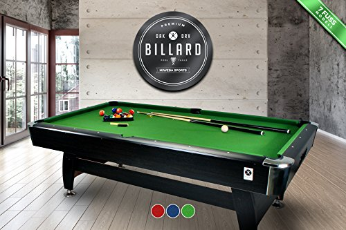 "Tavolo da biliardo carambola ""Green Season"" 7 ft ACCESSORI PER CARAMBOLA PANNO VERDE - NUOVO billiard table (BIGLIE NUMERATE + TRIANGOLO + 2 STECCHE +"