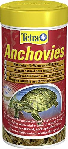Tetra Anchovies (Wasserschildkrötenfutter, Naturfutter mit kleinen ganzen getrockneten Fischen), 1 Liter Dose