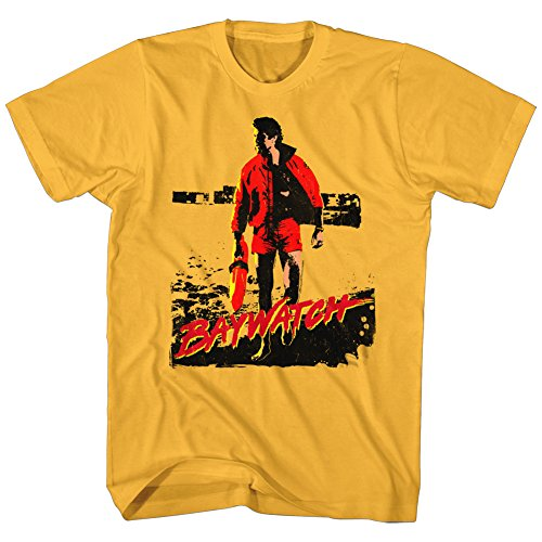 Baywatch Mitch T-Shirt, Gold for Men