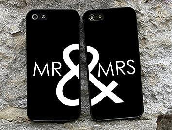 MR & MRS Coque de protection pour iPhone 6/6S Motif couple ...