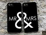Doppelhülle 'MR & MRS' Schwarz // für iPhone 4 5 5S 6 Galaxy S4 S5 S6 S7, Rand:Weiß, Handy:Apple iPhone 6 / 6S
