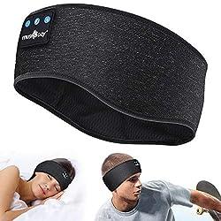 【👍 Grands 3 en 1 Écouteurs Bluetooth】- Facile à utiliser comme Casque Anti Bruit,masque de sommeil musical ou Bandeau de sport à de nombreuses occasions,comme la sieste,la relaxation,les voyages,le jogging,etc. Écouter de la musique,réduire le bruit,...