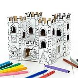 Calafant Kleine Burg B2601X – zum Basteln, Anmalen & Spielen. Das Original, direkt vom Hersteller.