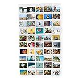 Lumaland Fotovorhang Collage für Bilder & Fotos, Querformat mit 50 Taschen, für 10 x 15 cm Fotos