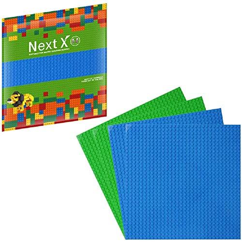 NextX 4 Piezas de Base Plancha para Classic Construir Game plastico Bases Placa 25 x 25 cm …