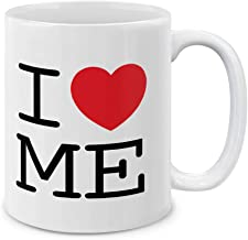MUGBREW I Love ME Maine Ceramic Coffee Gift Mug Tea Cup, 11 OZ