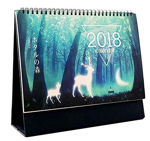 Juni 2017 - Dezember 2018 Kalender Büro Desktop Kalender [F]