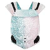 Hoppediz Primeo Full-Buckle Babytrage ✓ ab Geburt ✓ Bauchtrage ✓ Rückentrage ✓ verstellbarer Steg ✓ 100% Bio-Baumwolle   Design Jaipur creme