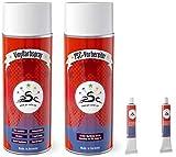 Set 4 – 400: Pintura de Vinilo para Mini Cooper Pacific Gris Pacífico Piel sintética Cuidado Piel sintética reparación