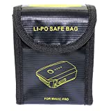 DGZZI 1-Pack Lipo Battery Safe Bag Explosion-Proof Fireproof Case Fiber Storage Box Protector for DJI Mavic Pro Drone Battery