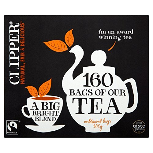 Clipper Tea Fairtrade–Everyday Blend Tea Bags 160per pack