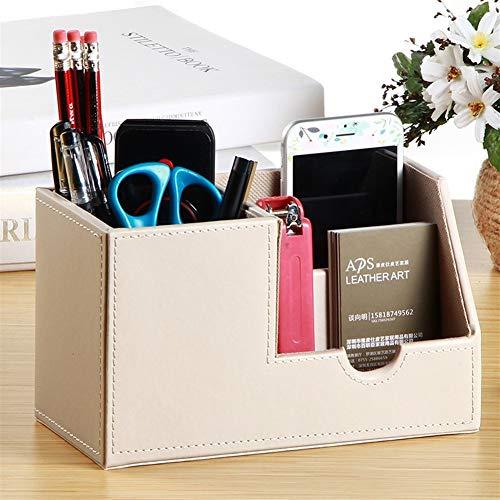 Lederen bureau-opbergbox, schrijftafel, penhouder, opbergdoos eenvoudig, eenvoudige kassa, lade stijl, creatieve studenten in speciale opbergdoos voor thuiskantoor F