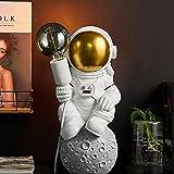 ACMHNC Astronauta Lámpara de Mesa Para Niños, Lámpara de Escritorio Infantil Spaceman Con Enchufe y Cable 1,5 M, Enchufe E27, LED Lámpara de Mesita de Noche Decoración Para Chico Chica Regalos