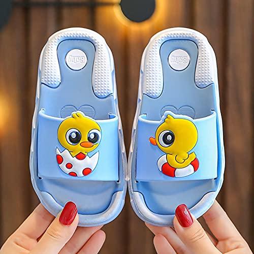 JYSD Sandalias de playa para niños, con diseño de pato pequeño, para verano, divertidas, para la playa, sandalias de ducha creativas (tamaño: 26 – 27, color: azul)