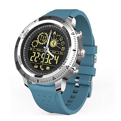 J.W. Bluetooth Smart Watch, Fitness Tracker Mit Schlaf-Herzfrequenz-Blutdruck-Monitor, 5 ATM wasserdichte Schrittzähler Kalorien Activity Tracker Für Frauen Männer,Blau