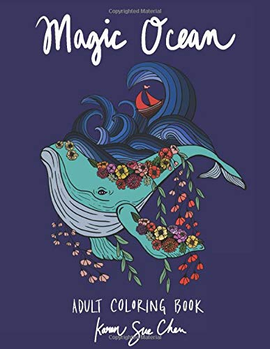 Magic Ocean: A Creative Adult Coloring Book