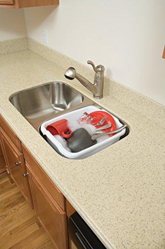 Rubbermaid Dish Bucket, 15.6-Quart, Clear (FG2970ARWHT),White |