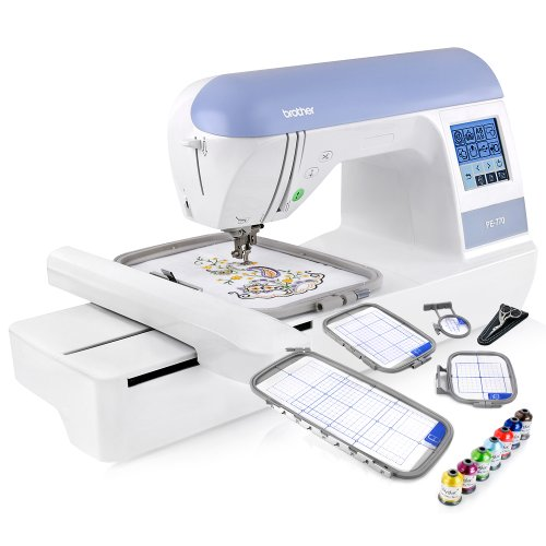 "Brother Embroidery Machine, PE770, 5"" x 7"" Embroidery Machine with..."