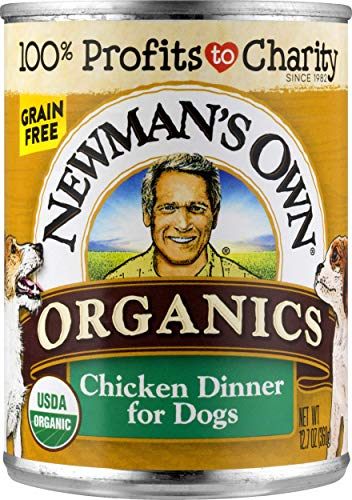 Newman's Own Organics Chicken Dinner For Dogs, 12.7-Oz (Pack Of 12)