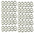 100pcs 1/2 Inch PEX Cinch Clamp Rings,304 Stainless Steel Cinch Crimp Rings Pinch Clamps for PEX Tubing Pipe Fitting Connections