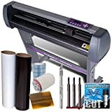 USCutter MH 34' Vinyl Cutter Plotter Bundle Sign Making Kit w/Software, Vinyl, Tape, Blades