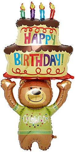 Burton & Burton Teddy Bär & Cake Form 152,4cm Geburtstag Party Mylar Folie Balloon- Feiern