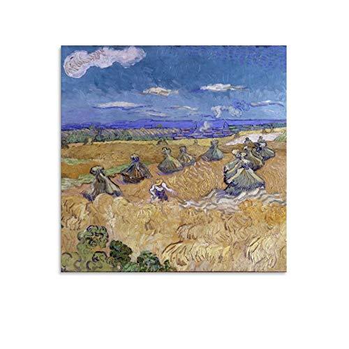 YGTD Vincent Van Gogh - Póster de campos de trigo con segador (60 x 60 cm)