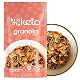 Kiss My Keto Granola Low Carb Cereal — Coconut, Almond & Pecan Nut Keto Cereal [9.5oz], 2g Net Carb | No Added Sugar, Soy & Gluten Free | Zero Grain & Non-GMO — Clean Keto Breakfast Snacks (1 Pack)
