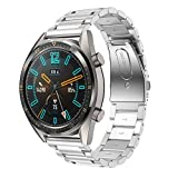 Supore Correa Compatible con Huawei Watch GT2 46mm/Watch GT 46mm/Watch GT Active/Watch 2 Pro/Honor Watch Magic/Galaxy Watch 46mm/Gear S3/Gear 2, Correa de Repuesto de Acero Inoxidable de 22 mm