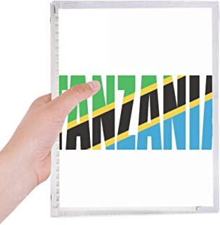 Tanzania Country Flag Name Notebook Loose Leaf Diary Refillable Journal Stationery