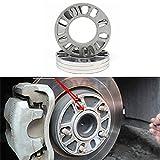 ZIHAN Feil Store 2 unids/Set 3/5/6/8 / 10mm espaciadores de Ruedas SHIMS Placa Aleación de Aluminio Fit para AutoCAR Universal Wheel ACEPTESORIOS (Color : Silver 3mm)