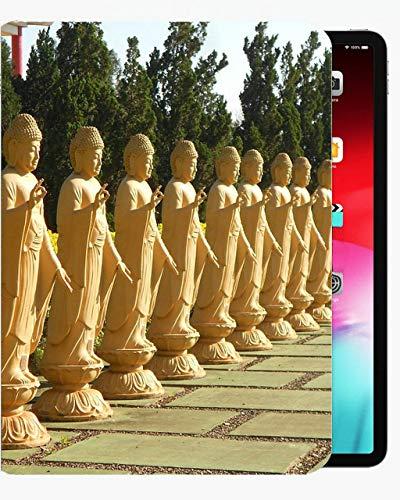 para la Cubierta de la Caja de 10,5 Pulgadas de iPad Pro, Cubierta de Concha Delgada de la Funda de Oro-Buda de la Vendimia para iPad iPad Pro