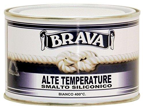 Brava S403 Smalto Alte Temperature 400°, Bianco, 375 ml