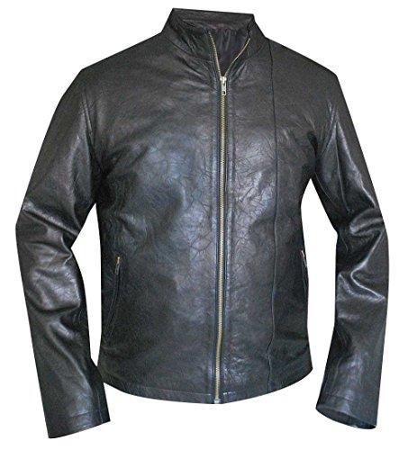 Mission Impossible Rogue Nation Stylische Ethan Hunt Freizeitkleidung Echtleder Jacke Gr. XXL, Schwarz
