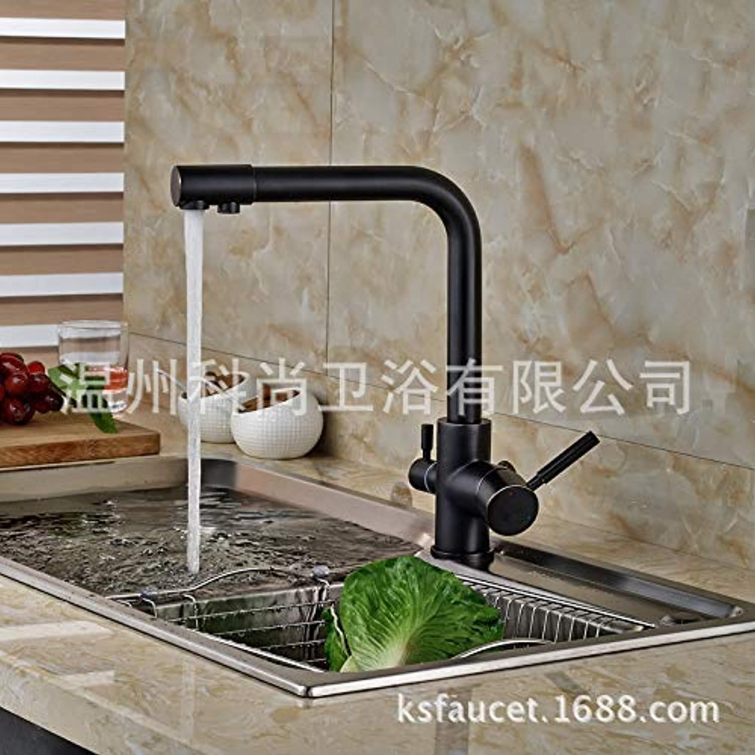 redOOY Taps Faucet Copper Black Water Purifier Straight Drink Kitchen Hot And Cold Dual-Use Net Faucet