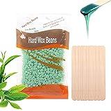 Frijoles de cera dura Clyhon-rbol de t 100g y 10 barras de cera, frijoles calientes de cera-se utiliza para la depilacin en bikini/cuerpo/piernas/brazos/piernas/espalda y axilas.